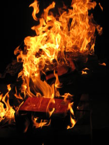 a book on fire